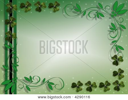 St Patricks Day Green Border