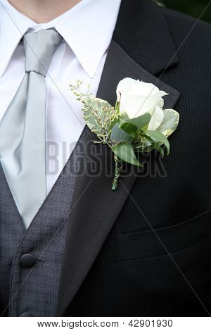 Boutonniere On Suit
