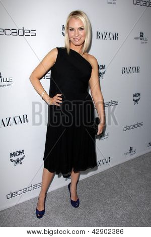 LOS ANGELES - FEB 28:  Leslie Grossman arrives at the Harper's Bazaar Celebrates The Launch Of The Dukes of Melrose Event at the Sunset Tower on February 28, 2013 in West Hollywood, CA