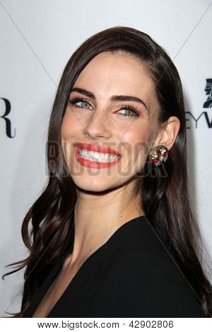 LOS ANGELES - FEB 28:  Jessica Lowndes arrives at the Harper's Bazaar Celebrates The Launch Of The Dukes of Melrose Event at the Sunset Tower on February 28, 2013 in West Hollywood, CA