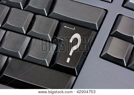 Question Mark On Black Enter Key