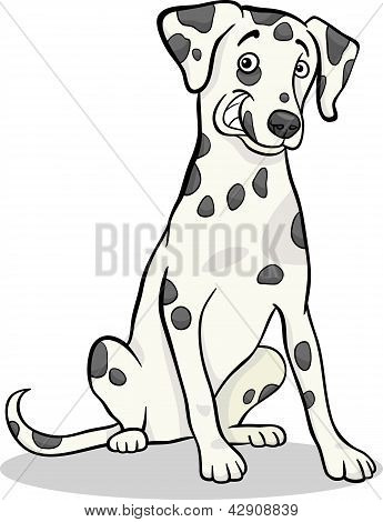 Ilustración de dibujos animados de perro dálmata de pura raza