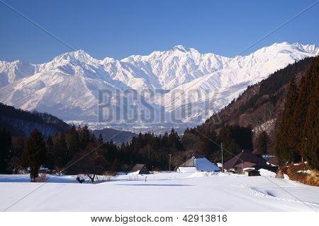 Hakuba Village In Winter