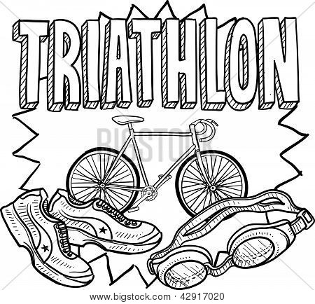 Triathlon sketch