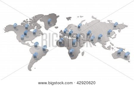 Isolated international w-lan smart phone map network