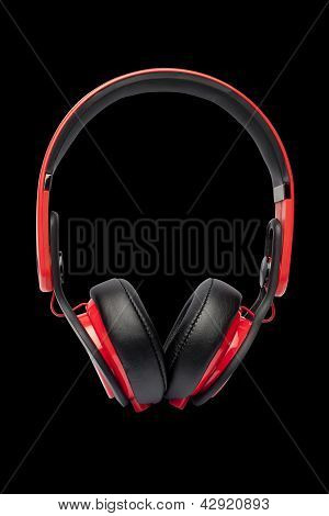 headphones isolated on a black