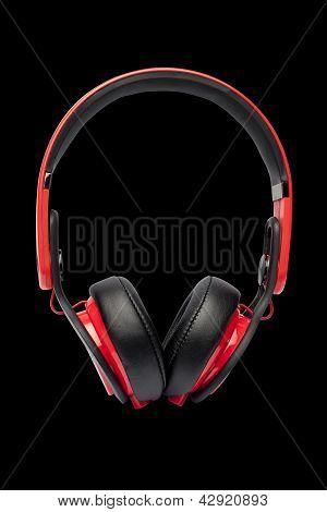 headphones isolated on a black