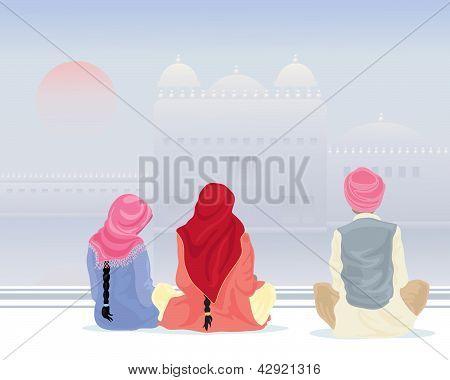 Prayer At The Gurdwara