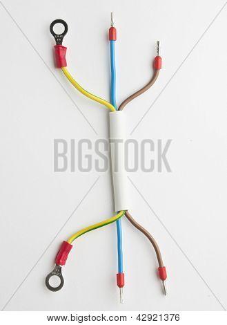 Three phase wire