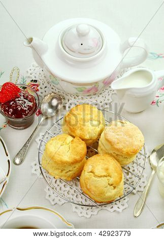 Devonshire Tea And Scones