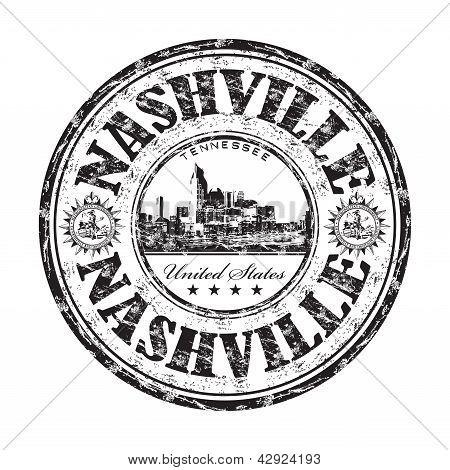 Carimbo de borracha de grunge de Nashville