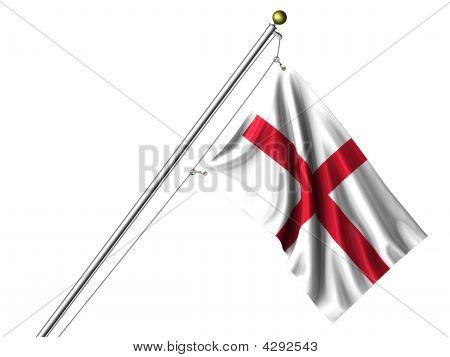 Isolated English Flag
