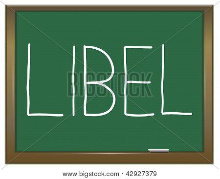 Libel Concept.