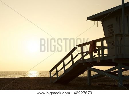 LifeGuard Station at Sunset