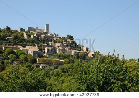 Village Of Lacoste  In Provence
