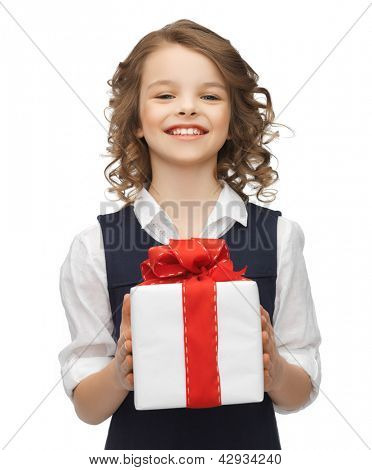 picture of beautiful girl with gift box