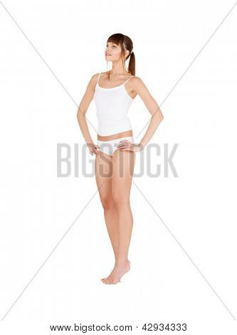picture of beautiful woman in cotton underwear