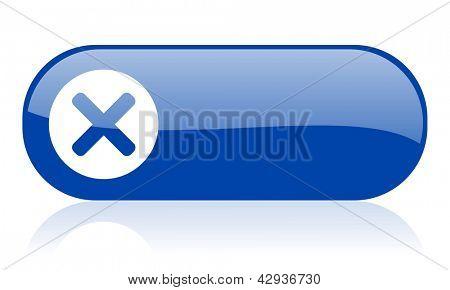 cancel blue web glossy icon