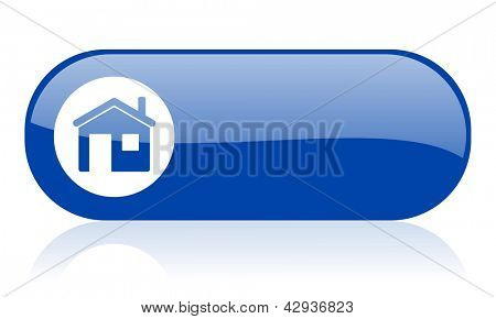 home blue web glossy icon