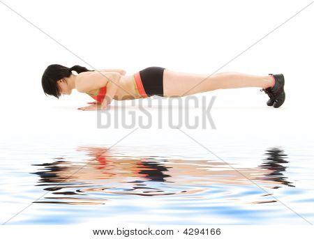 Frau üben vier Gliedmaßen Personal Pose