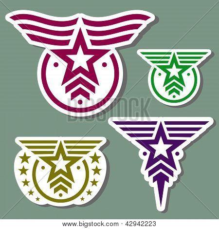 Military style logo set