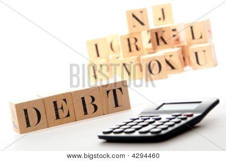 Debt Puzzle Blocks And Calculator