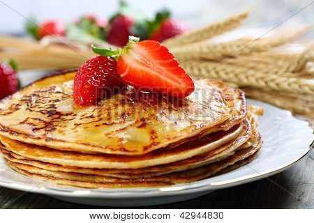 Pancakes With Honey.