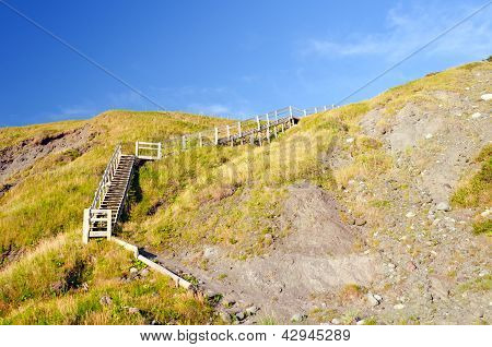 Stairway To A Coastal Beach