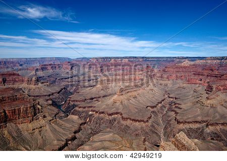 Grand Canyon Afternoon Blue Sky