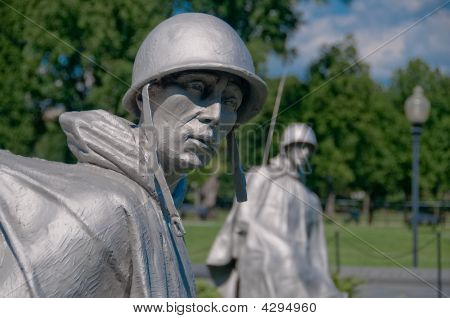 The Korean War Veterans Memorial in Washington DC USA