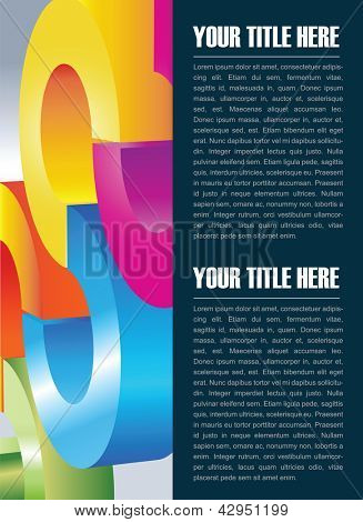 Abstract vector background for brochure and poster with color circles and place for text