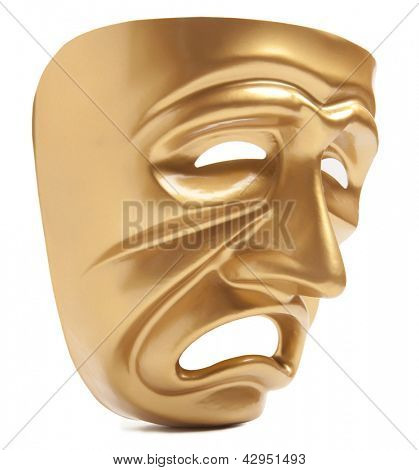 Theatrical mask isolated on a white background