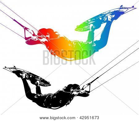 Illustration rider isolated on white background. Vector.