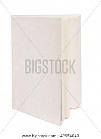 Libro gris aislado sobre fondo blanco