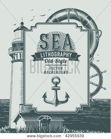 Vintage sea background