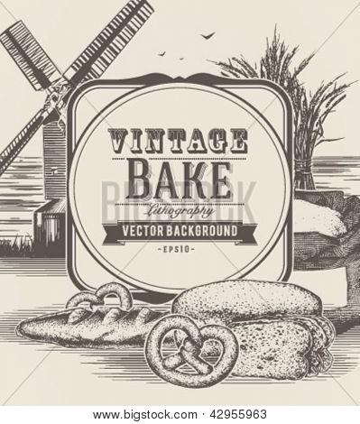 Fondo de panadería Vintage