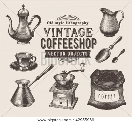 Vintage coffee objects