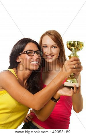 Two Happy Winners With Prize