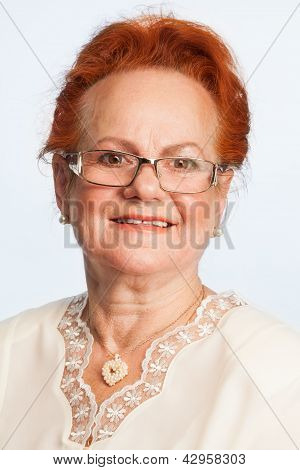Retired Woman Expressing Positivity