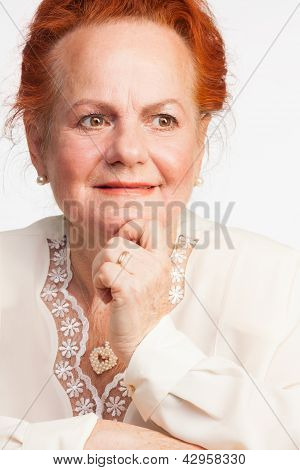 Thoughtful Senior Lady