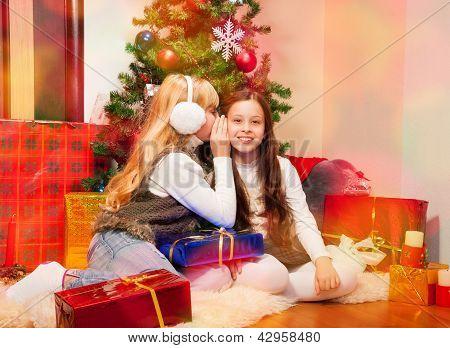 Two Girls Sharing Secrets