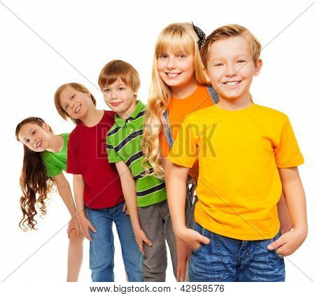 Three Boys And Two Girls