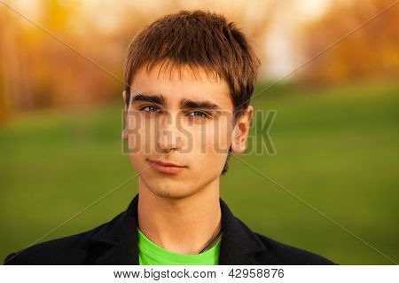 Portrait Of Confident Young Man