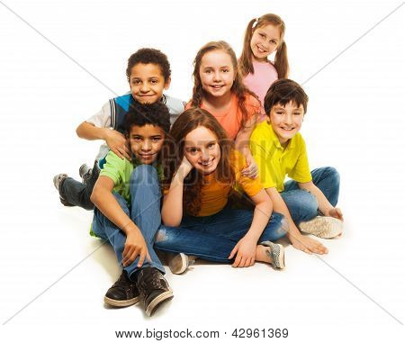 Group Of Happy Diversity Looking Kids