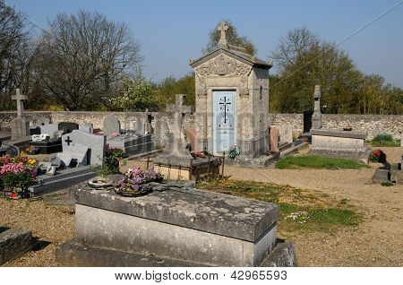 France, The Cemetery Of Boisemont In Val D Oise