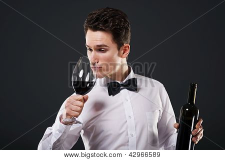 Connoisseur of wine