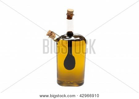 Bottle Of Oil And Syrup