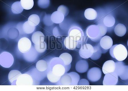 Winter Blue Bokeh