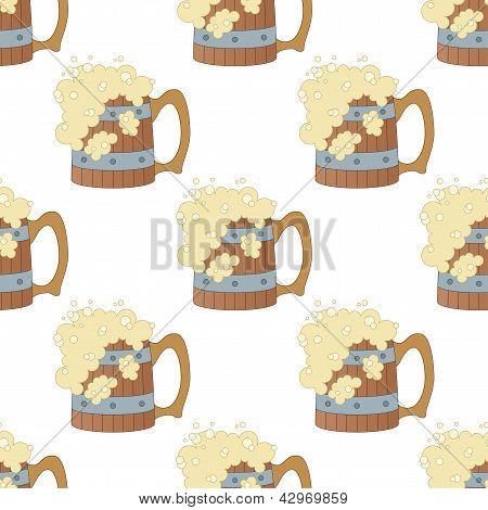Beer mugs, seamless