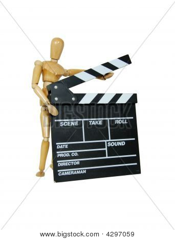 Person Holding Movie Clapper
